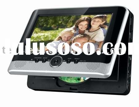 7inch slim dual screen LCD portable DVD player