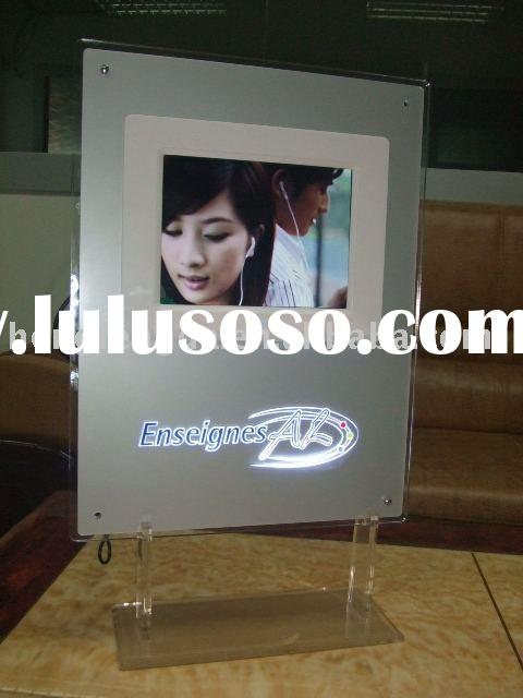 8inch media Advertising player , digital signage , LED light box stand
