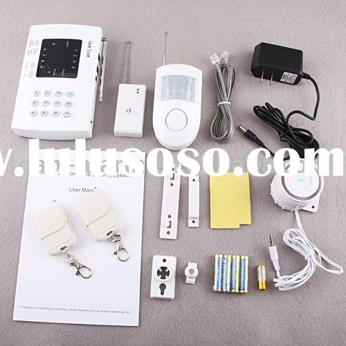 Auto dial alarm system with built in rechargeable battery