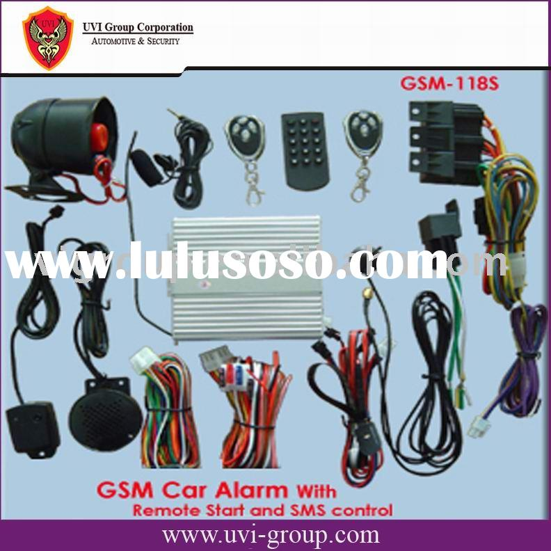 GSM Car Alarm with In-car telephone and remote control with SMS and calling