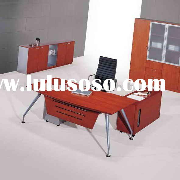 Modern office desk (WOOD + METAL)