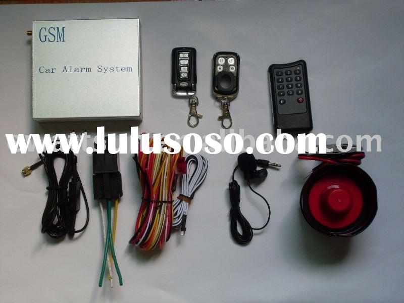 Remote GSM car alarm system