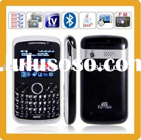 The World's First Quad Band 4 Sim Card Gsm Mobile Phone With TV FM Dual Camera JAVA Bluetoot