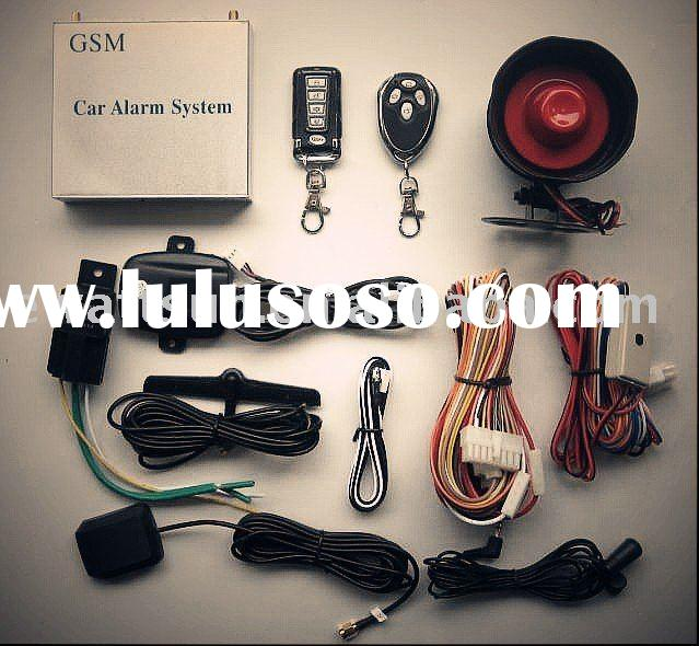 gsm/gps car alarm system with remote starter