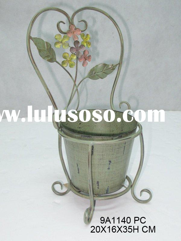 metal chair vase
