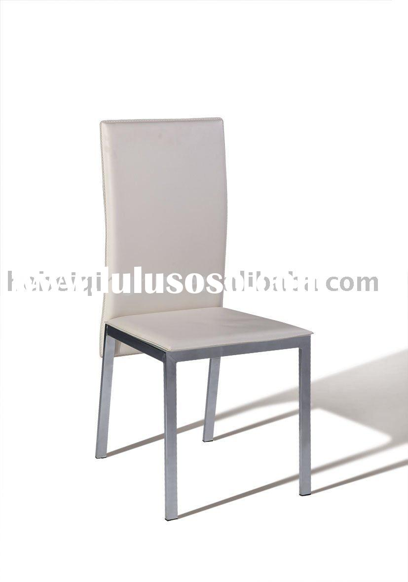 white modern metal dining  room chair