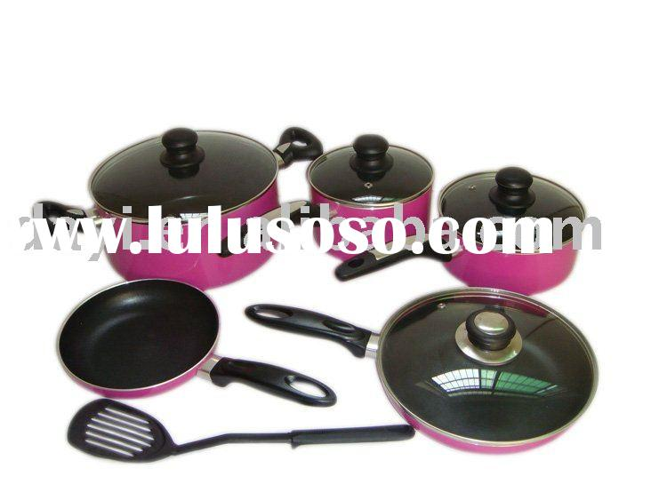 10pcs aluminium cookware set