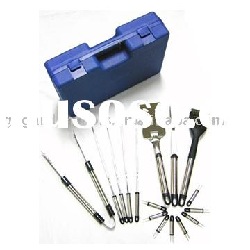 16 Piece Stainless Steel BBQ Tool Set