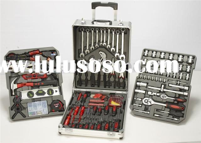 186pcs Hand Tool Set in Aluminum Case with trolley