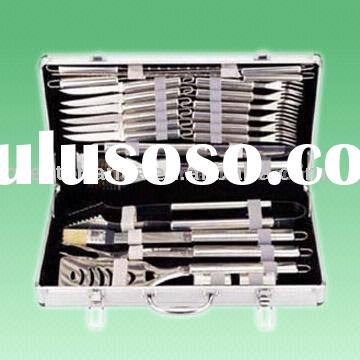 24-Piece Stainless Steel Barbecue Set With Aluminum Case