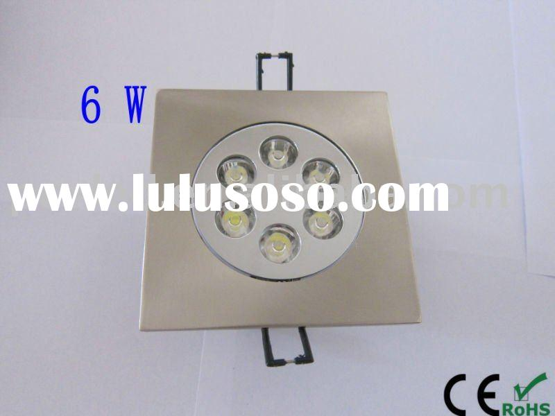 6*1w 4.5 Inches square recessed led downlight