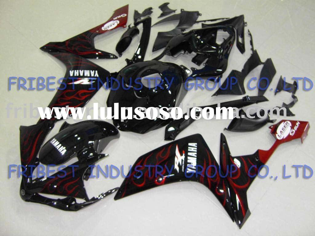 Aftermarket motorcycle fairing kit for  YZF R1 07 08 2007 2008 orange and black