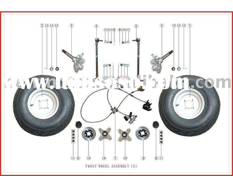 BASHAN EEC ATV BS150S-2B FRONT WHEEL PARTS CATALOGUE