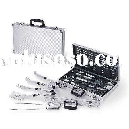BBQ TOOL Set With Case -19 Piece