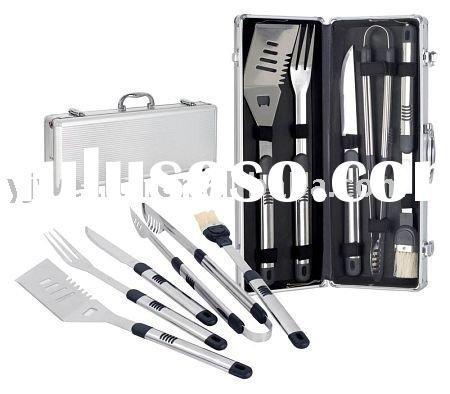 BBQ TOOL Set with Case - 5 Piece Set