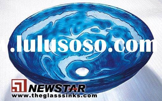 Decorative glass bathroom sinks