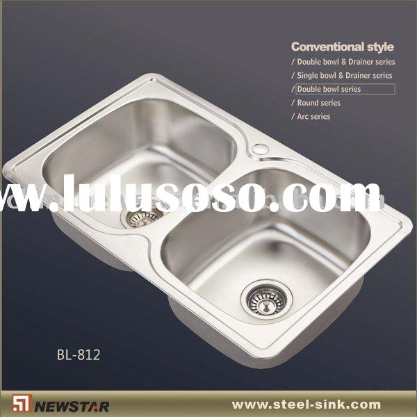 Polished kitchen sinks stainless steel