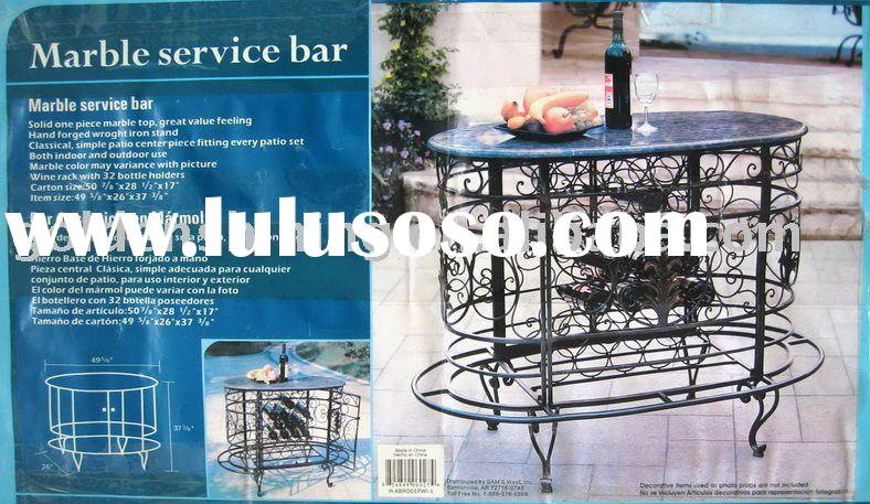 Wrought iron wine bar table with marble top K/D
