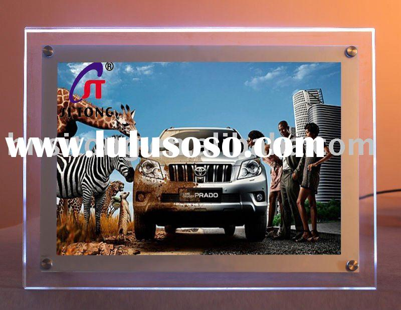 black  frame led advertising light box for car fair