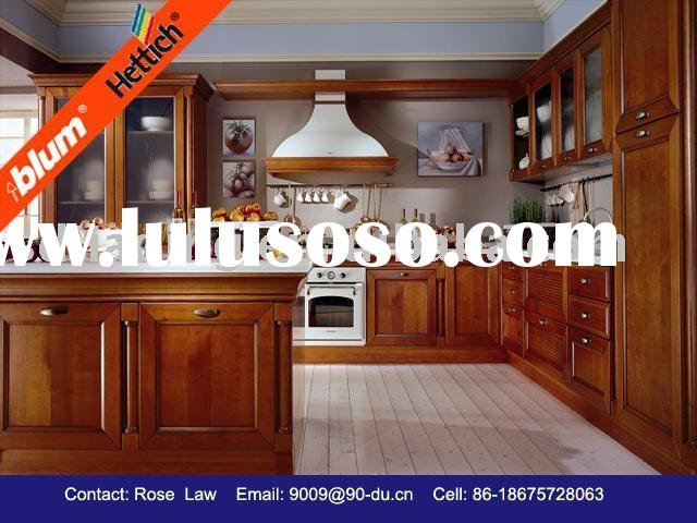 solid wood kitchen cabinet/solid wood kitchen furniture