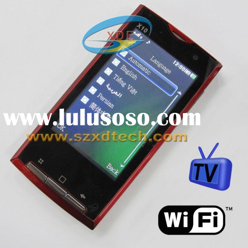 3.8 inch Big Screen Display GSM Mobile Phone X10 Two Sim Cards Work at the same time with TV Wifi Fa