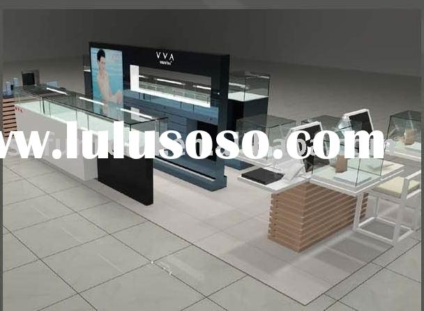 Glass And Led Jewelry Display Case, Jewelry Display Cabinet And Showcase For Shop