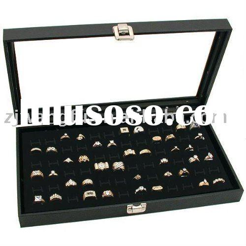 jewelry display trays glass