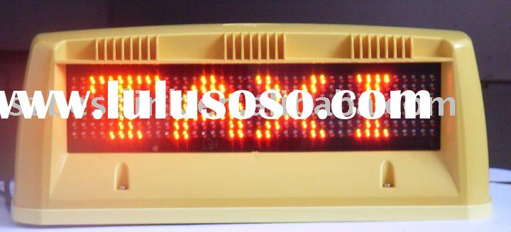 led taxi display,led display for taxi,led display for car,led car display,led moving sign