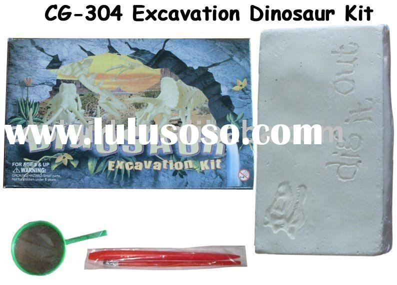 big dinosaur skeleton/dinosaur excavation kit/dig dinosaur