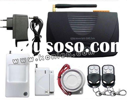 home security alarm system with relay out output, learning code, SMS and call alert, remote control