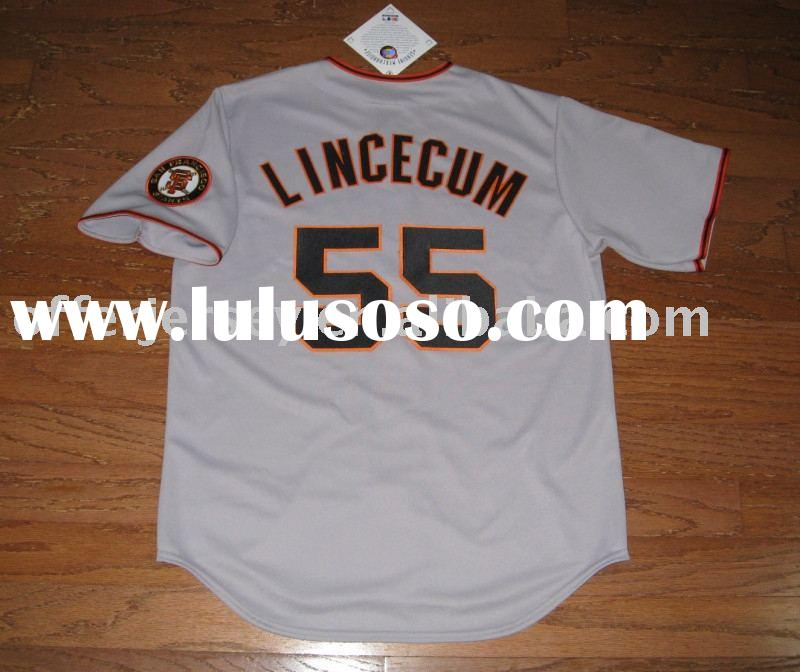 2009 Jersey - San Francisco Giants #55 Tim Lincecum Authentic baseball Jerseys - accept paypal - GRE