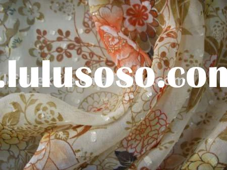 50D Polyester Flower Printed Chiffon Fabric