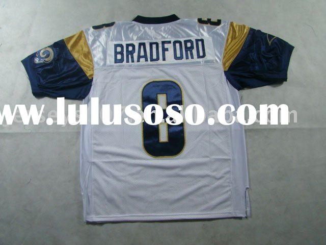 Authentic St.Louis Rams Sam Bradford #8  White Jersey.Throwback jerseys