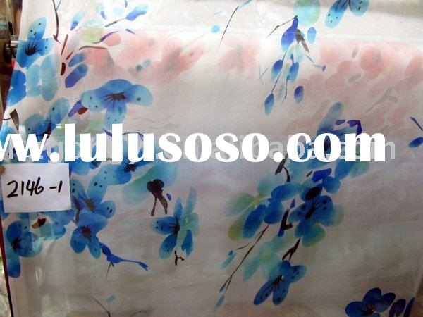 Chinese paintings design prue silk fabric handed painted