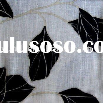 Embroidery Curtain and Curtain Fabric,flower jacquard fabric,