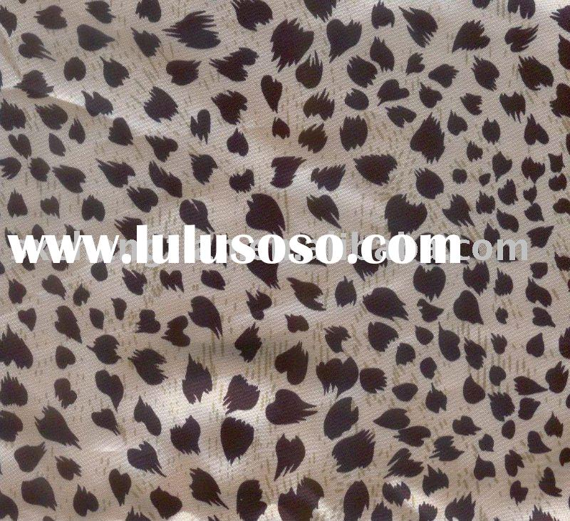 HEART PRINTED SILK SATIN FABRIC FOR LADIES GARMENT