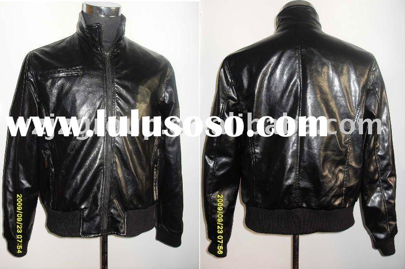 Men's leather coat/Jacket(men's winter,men's leather)