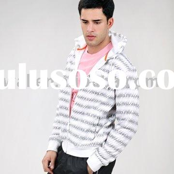 Men's polyester casual jacket with hood