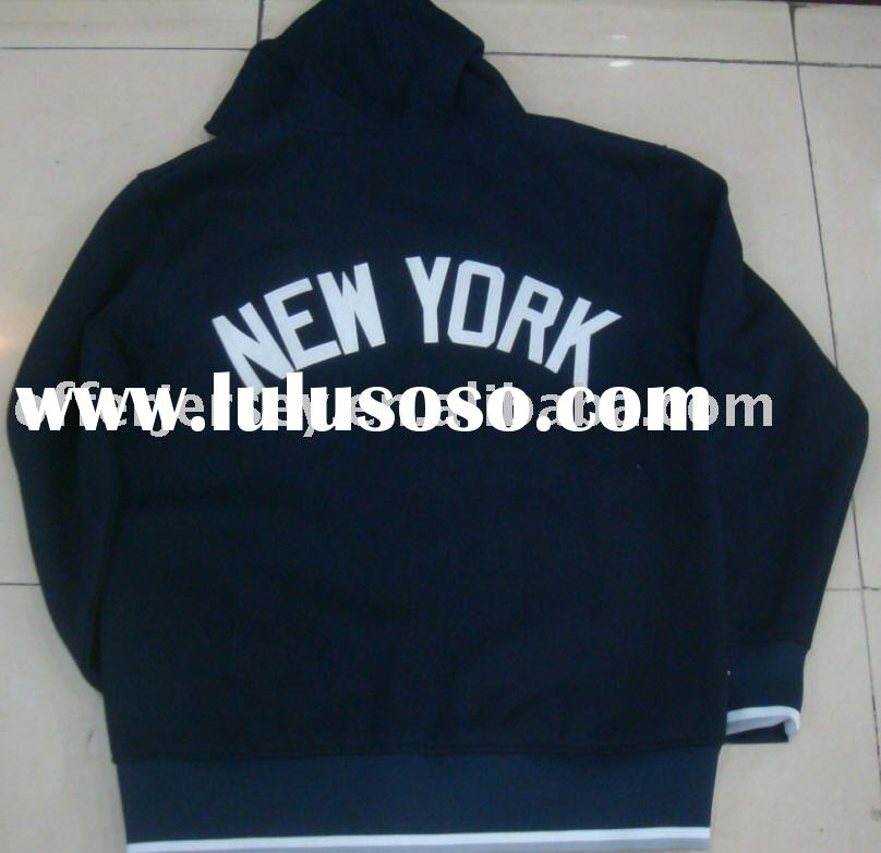 New Top Quality! HOT! NEW  YORK YANKEES baseball HOODED FULL ZIP JACKET SEWN LARGE-XXXL