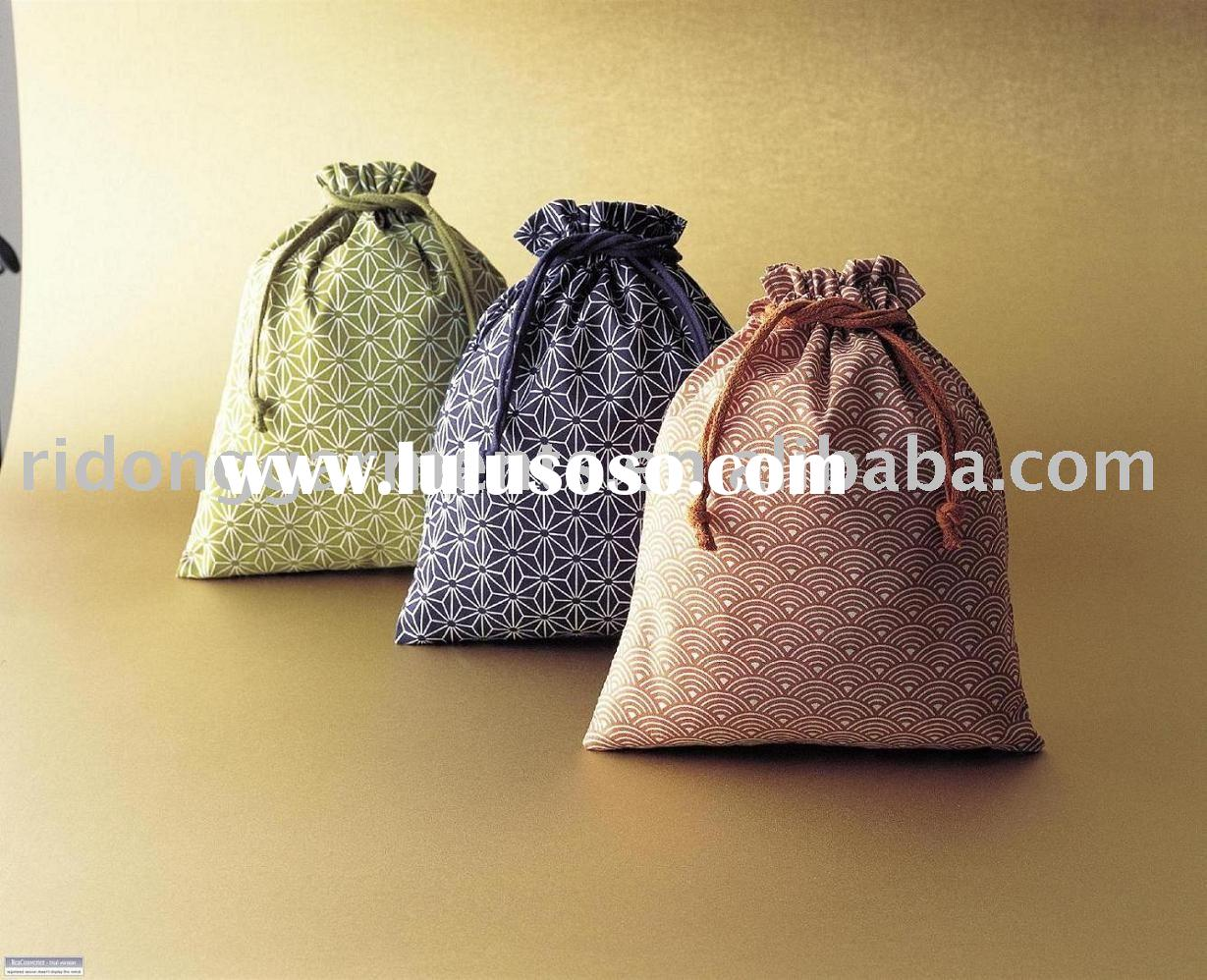 Promotional Japanese Style Print Cotton Pouch Bag