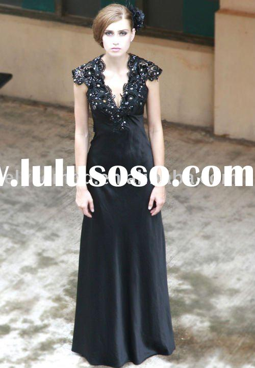 Symphony Black Evening Dress mother of the bride dress