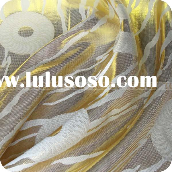 jacquard silk satin fabric with lurex