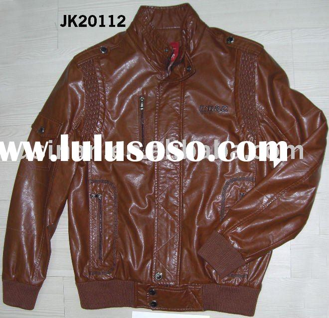 men's leisure imitation leather single face jacket