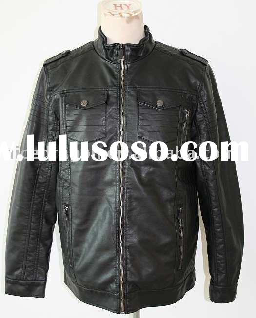 mens' leather Jacket