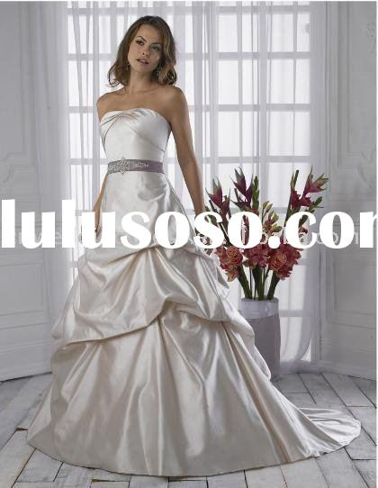 Perfect Style Customized 100 Silk Classic Wedding Dress Royal Blue