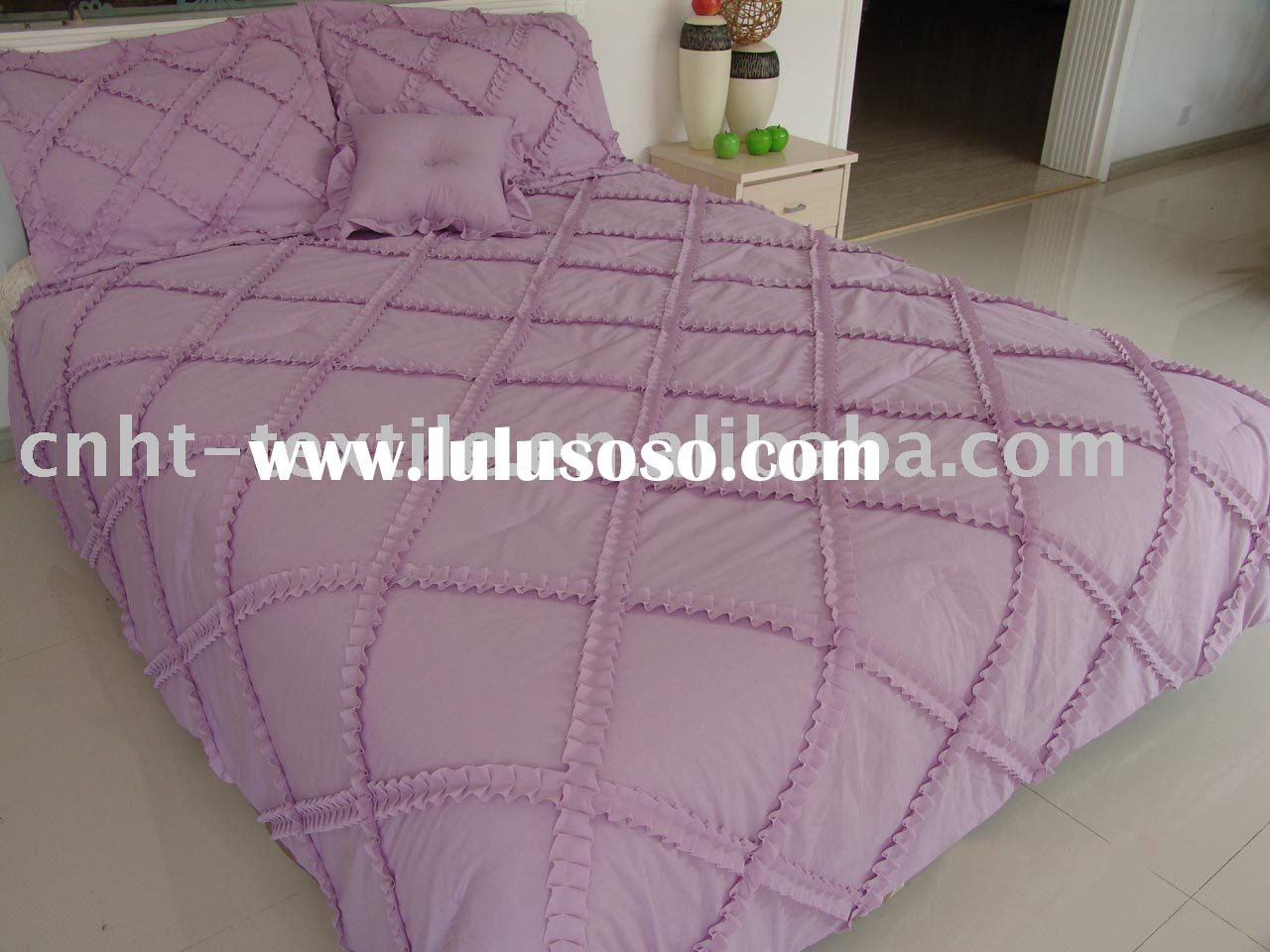purple cotton comforter set