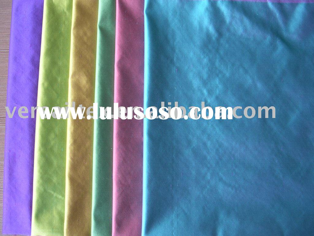 silk dupion satin fabric /yarn dyed silk
