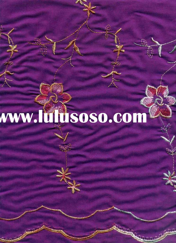 thai silk embroidery fabric