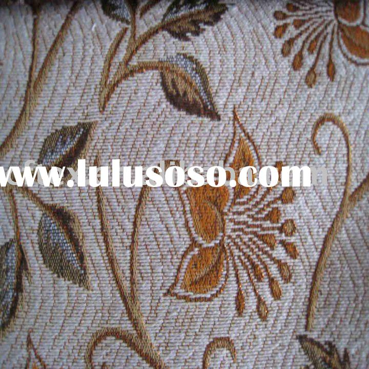 traditional spun gold  jacquard polyester and cotton upholstery fabric for home textile