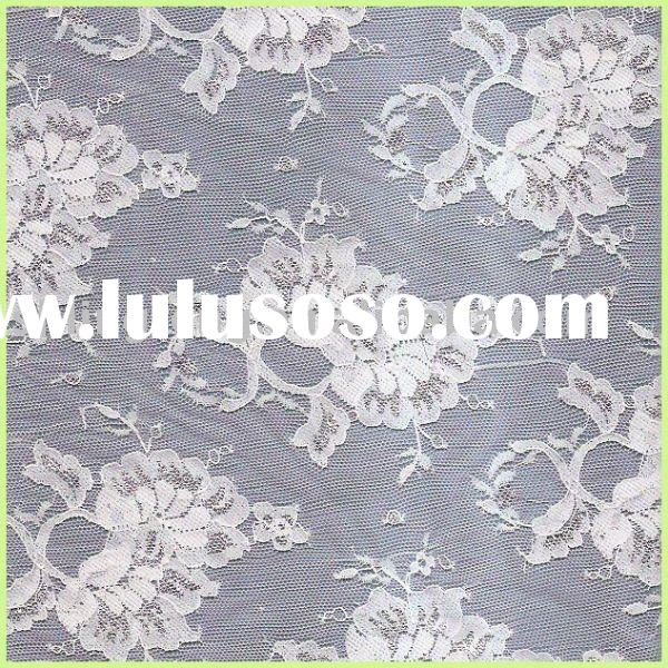 white jacquard fabric designs/stretch lace fabric/swiss lace fabric